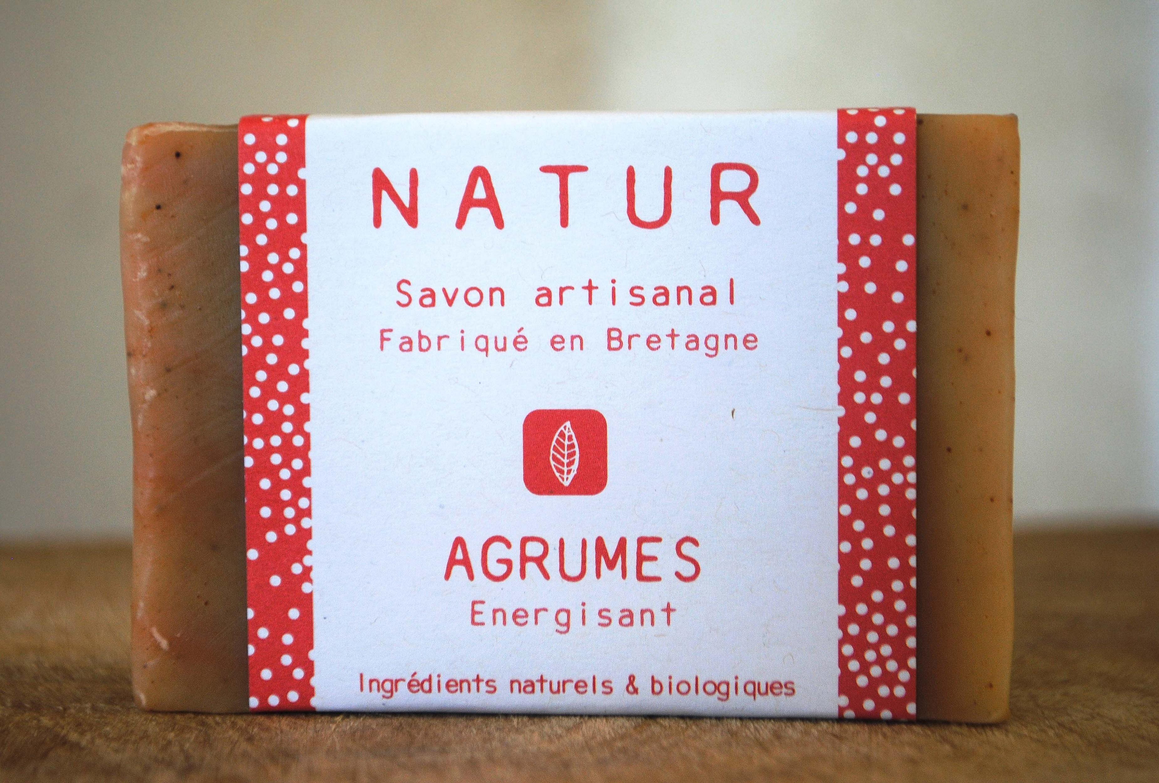 Savon aux agrumes – Energisant saponification à froid saf savonnerie artisanale Bretagne Finistère