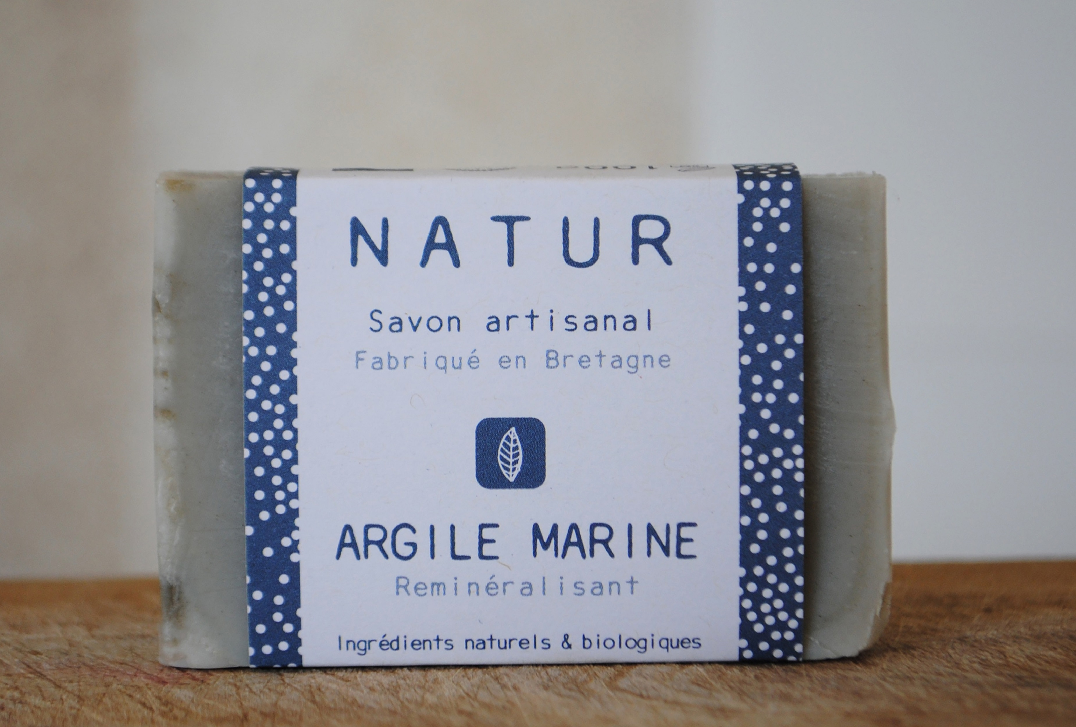 Savon à l'argile marine – Reminéralisant saponification à froid saf savonnerie artisanale Bretagne Finistère