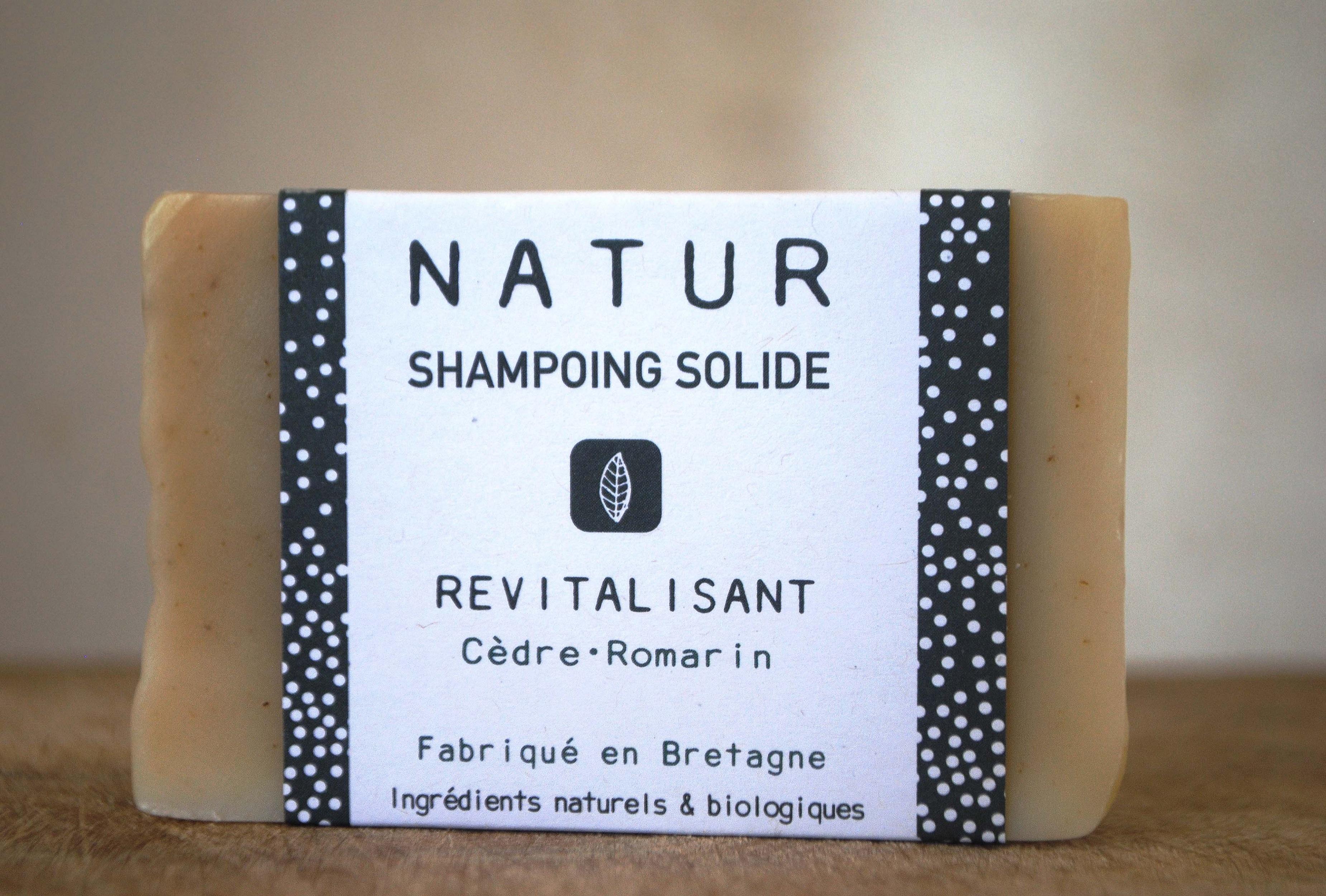 Shampoing revitalisant solide saponification à froid saf savonnerie artisanale Bretagne Finistère