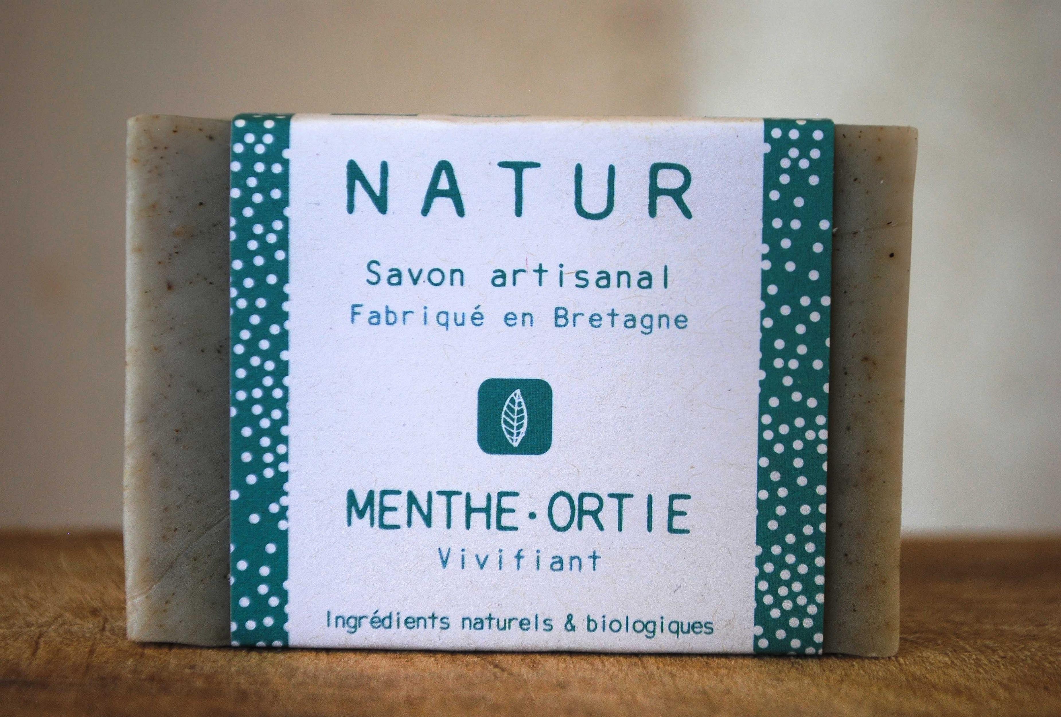 savon menthe ortie saponification à froid saf savonnerie artisanale Bretagne Finistère