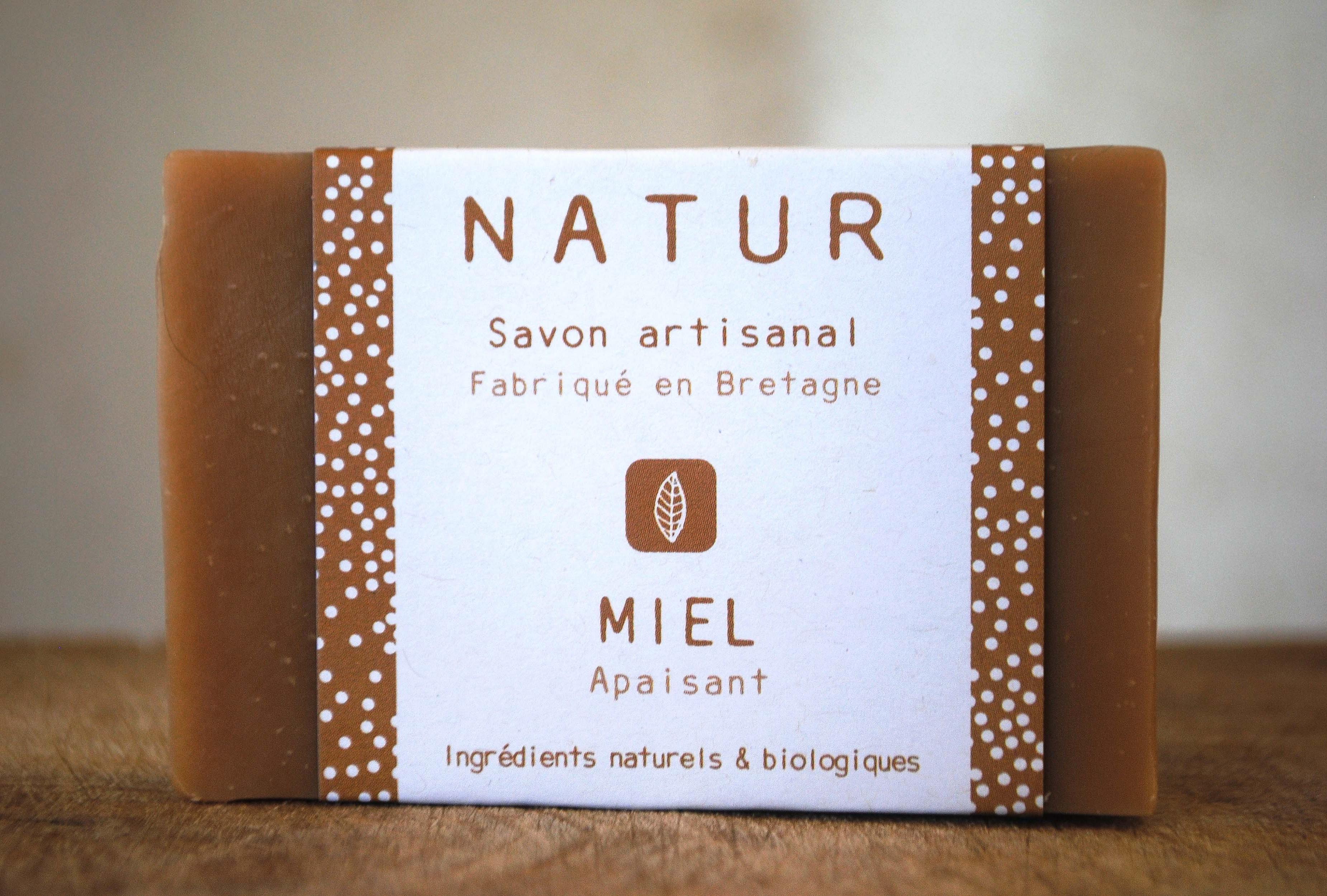 savon au miel et cire d'abeille sans huile essentielle saponification à froid saf savonnerie artisanale Bretagne Finistère